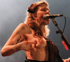 1. Courtney Love – boob flash, 2011