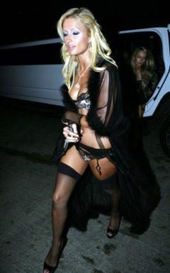 1. Paris Hilton in Sexy Lingerie – Hugh Hefner's Birthday Party, 2006