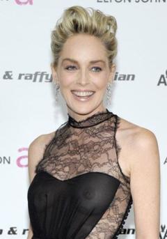 1. Sharon Stone Naked – Elton John AIDS Foundation's Academy Awards, 2009