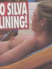 Adele Silva – Topless sunbathing, 2001