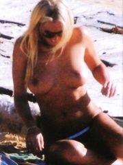 Annalise Braakensiek – Topless sunbathing, 2003