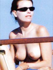 Claudia Pandolfi – Topless sunbathing, 2006