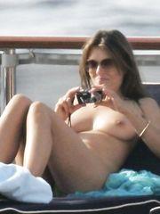 Elizabeth Hurley – Topless sunbathing, 2005