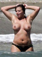 Jade Goody – Topless swimming, 2006