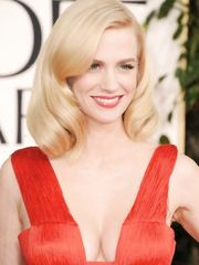 January Jones Clevage – Golden Globe Awards, 2011
