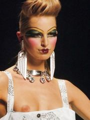 Karolina Kurkova Nip Slip – Christian Dior's Fashion Show, 2004