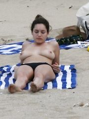 Kelly Brook – Topless sunbathing, 2008
