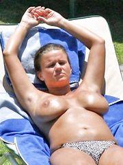 Kerry Katona – Topless sunbathing, 2011
