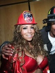 Mariah Carey in Bra – Halloween party, 2008