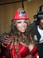 Mariah Carey in Bra – Halloween party, 2008
