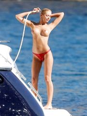 Orlaith McAllister – Topless on a boat in Majorca, 2005