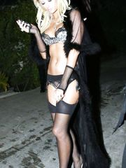 Paris Hilton in Sexy Lingerie – Hugh Hefner's Birthday Party, 2006