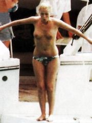 Patsy Kensit – Topless swimming, 1998