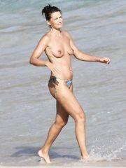 Paulina Porizkova – Topless swimming, 2009