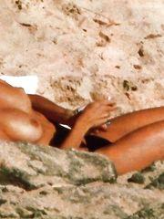 Penelope Cruz – Topless sunbathing, 1999