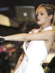Rihanna – boob oops, 2013