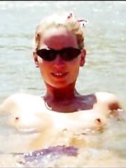 Sarah Harding – Topless swimming, 2000