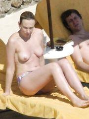 Toni Collette – Topless sunbathing, 2005