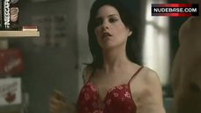 2. Leah Cairns Boobs Scene – Robson Arms