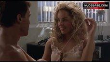 8. Sharon Stone Nip Slip – Total Recall