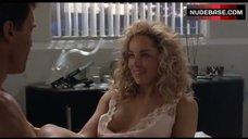 9. Sharon Stone Nip Slip – Total Recall