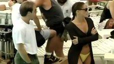 8. Sharon Stone Yellow Bikini Bottom – E! True Hollywood Story
