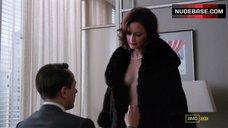 8. Alexis Bledel Side Boob, Hot Scene – Mad Men