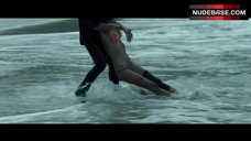 1. Blake Lively in Orange Bikini on Beach – The Shallows