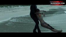 2. Blake Lively in Orange Bikini on Beach – The Shallows
