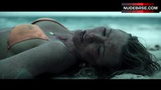 6. Blake Lively in Orange Bikini on Beach – The Shallows