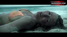 7. Blake Lively in Orange Bikini on Beach – The Shallows