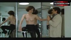 3. Sigourney Weaver Topless on Exercise Bike – Half Moon Street
