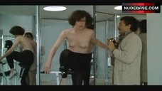 4. Sigourney Weaver Topless on Exercise Bike – Half Moon Street