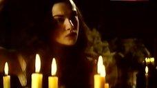 3. Rachel Weisz Boobs Behind Candles – Scarlet & Black