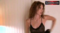 Sexy Janet Marin in See-Through Underwear – Dark Town