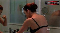 3. Kate Walsh in Black Bra – Private Practice