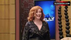Christina Hendricks Breasts Bouncing – Live! With Kelly
