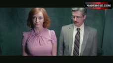 Christina Hendricks Hot Scene in Elevator – The Family Tree