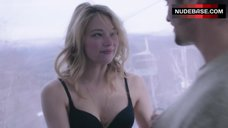 Haley Bennett Sexy in Black Bra – Deep Powder
