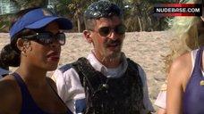 10. Irina Voronina Topless on Beach – Reno 911!: Miami