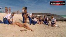 5. Irina Voronina Topless on Beach – Reno 911!: Miami