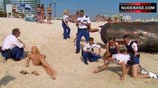 6. Irina Voronina Topless on Beach – Reno 911!: Miami