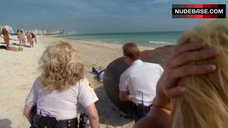 8. Irina Voronina Topless on Beach – Reno 911!: Miami