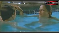 1. Kim Dickens Naked Swimming in the Pool – Out Of Order