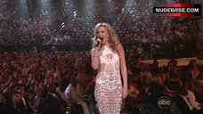 Kylie Minogue Cleavage – The Billboard Music Awards