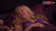 Laura Prepon Lying on Bed in Sexy Bra – Are You There, Chelsea?
