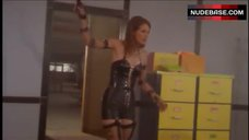 Molly Culver Hot in Leather Corset – V.I.P.