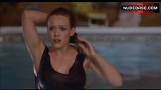 10. Hilary Duff in Wet Shirt – What Goes Up