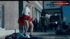 6. Jessica Simpson Flashes Red Panties on Street – Blonde Ambition