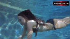 Lacey Chabert in Black Bikini Underwater – Imaginary Friend